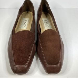 Enzo Angiolini brown shade/leather slip on